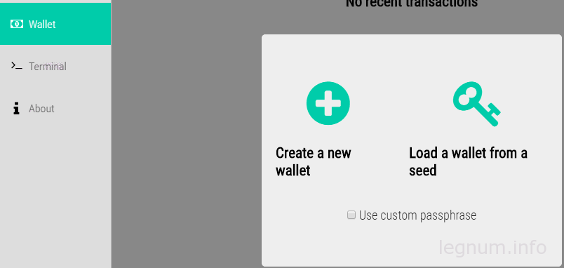 load a wallet from seed