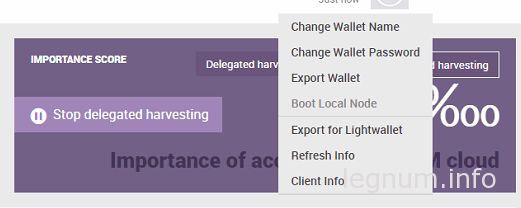 Export For Light Wallet