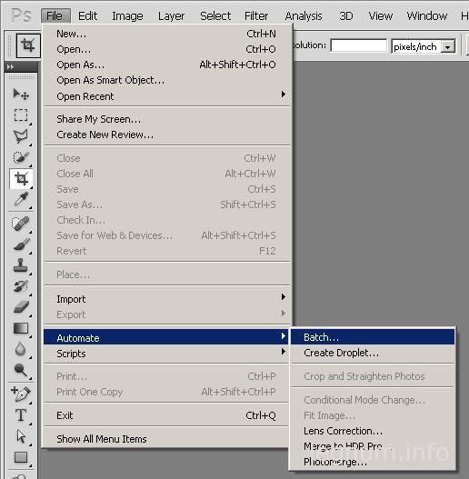 Пакетная обработка в Photoshop
