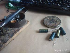 Замена конденсаторов мат.платы