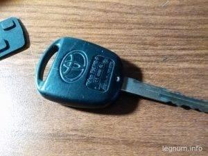 Замена кнопок на ключе Yaris