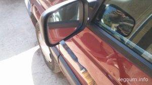 Замена зеркал заднего вида Passat B3