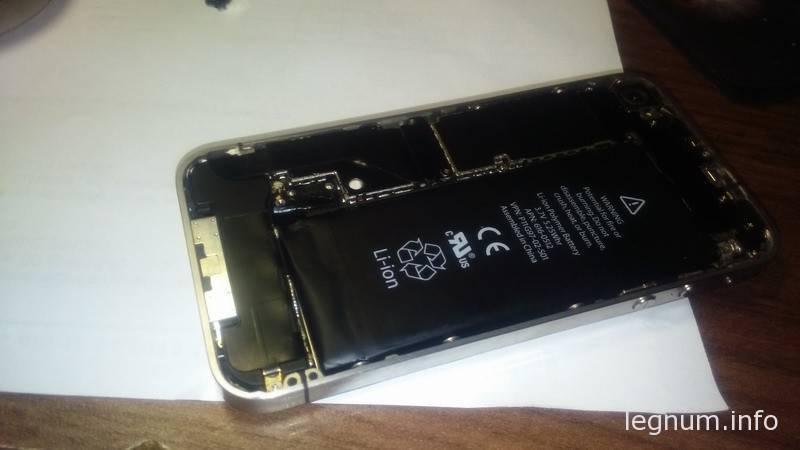 Пропайка разъема аккумулятора iPhone 4