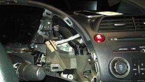 Снятие пластика щитка приборов Civic 5D