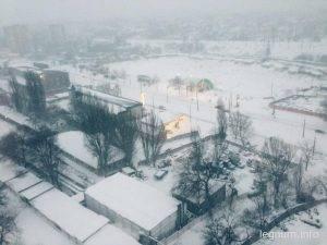 Снегопад 18 января 2016