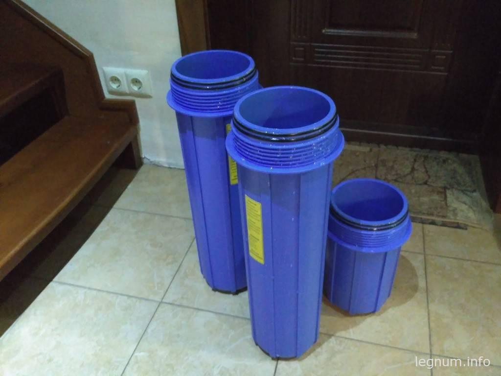 Замена фильтров грубой очистки воды