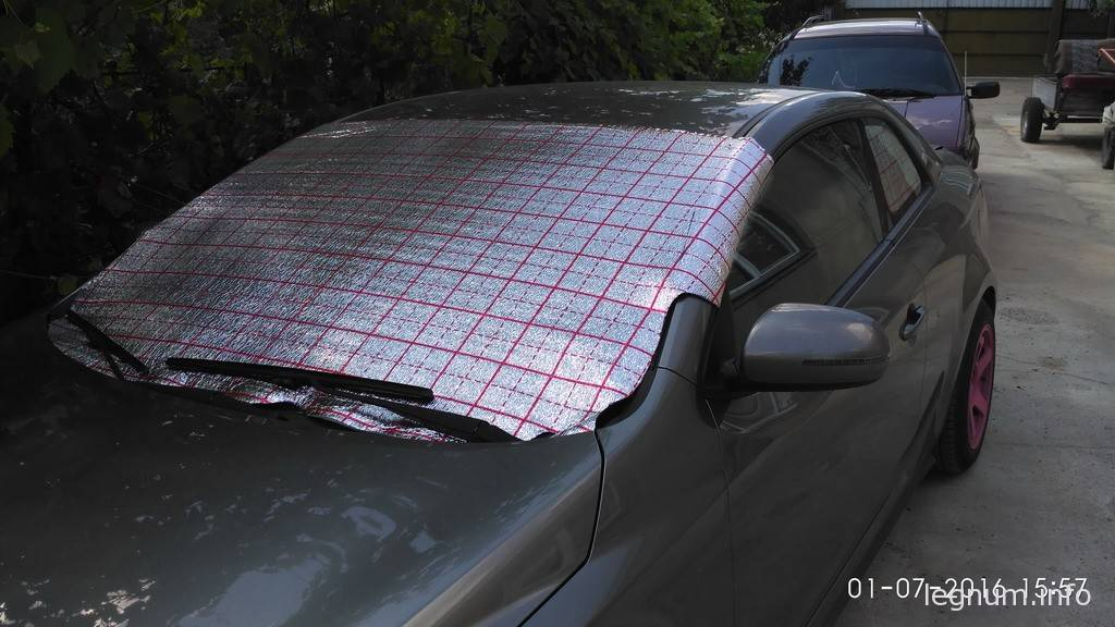Защита машины от солнца