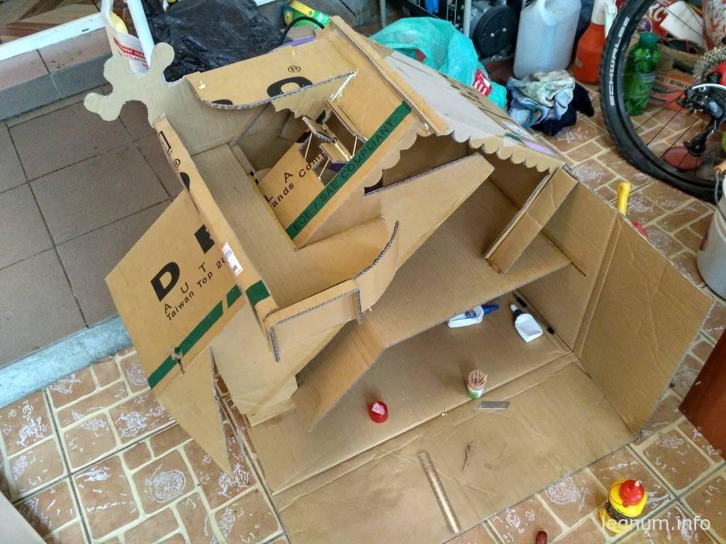 Кукольный домик из картона #1