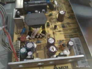 Замена конденсаторов монитора