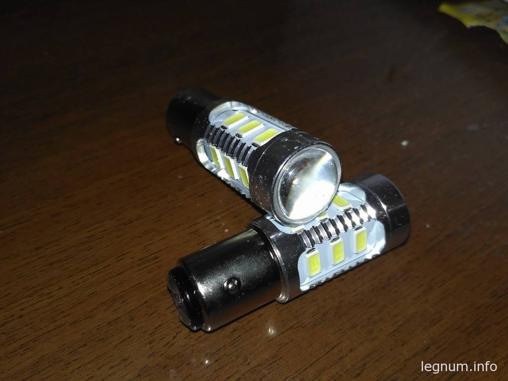 LED лампочка P21/5w для DRL+габариты