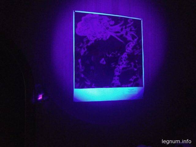 пятно освещения фонарика фокус