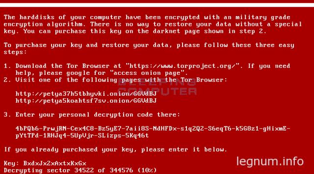 petya input password