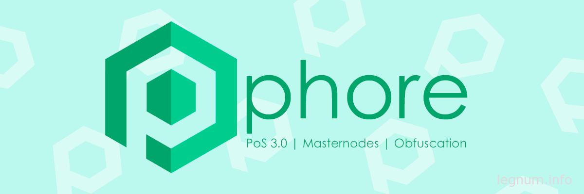 Настройка masternode Phore