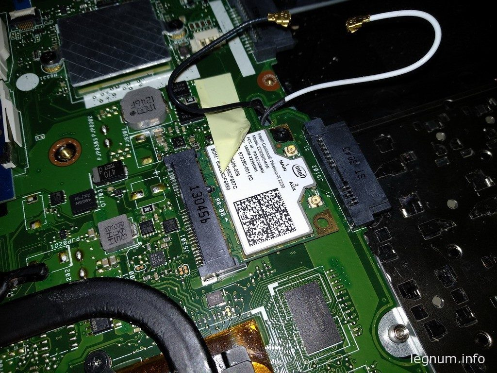 Отключаем антенны wi-fi модуля