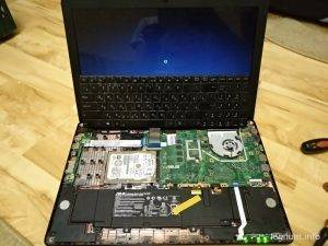 И я делаю проверку работоспособности клавиатуры от ноутбука ASUS K56CB