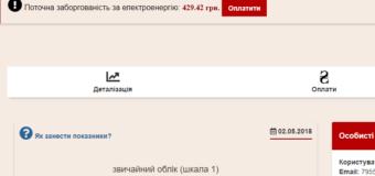 Л.с. за электричество в Приват-24