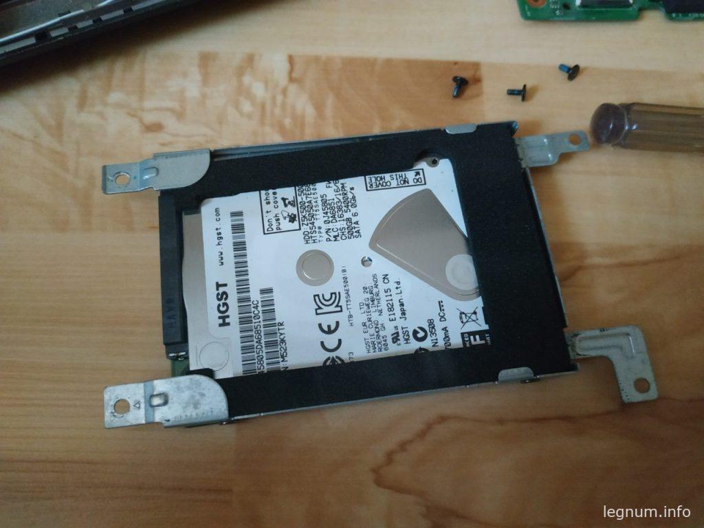 Замена жесткого диска X554L