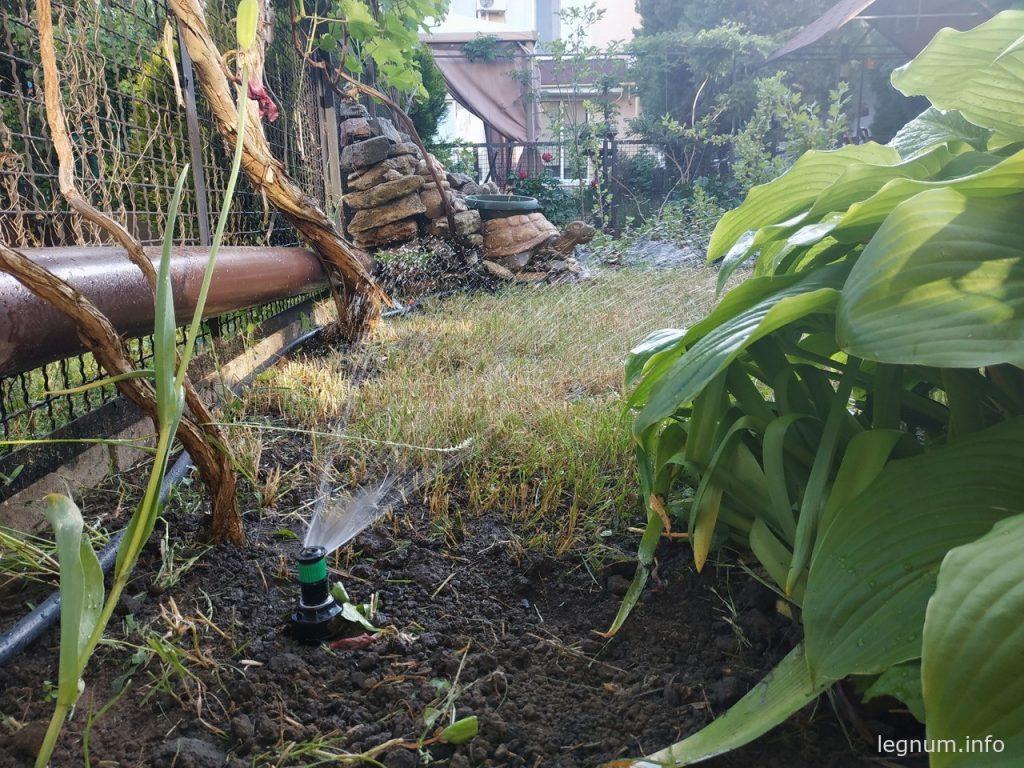 Установка дождевателей для газона