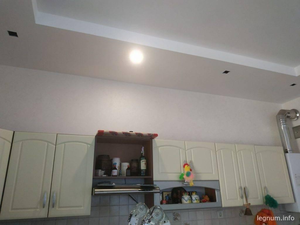Установка LED точечных светильников