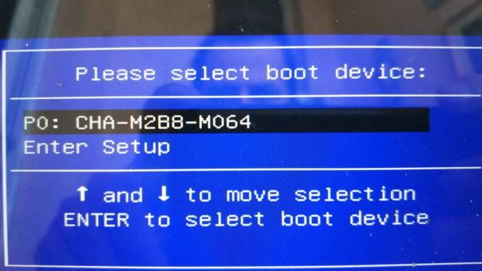 Загрузочное меню Asus UX31