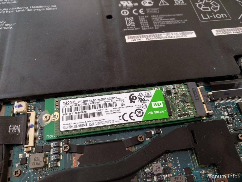 Очередной SSD в мой Zenbook Asus