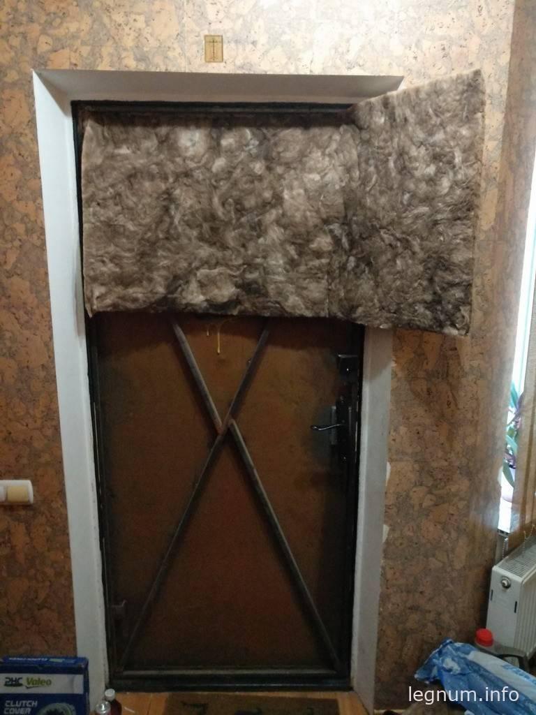 Удалить Утепляем входную дверь