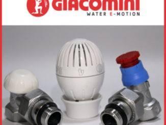 Комплект угловых радиаторных кранов с термоголовкой GIACOMINI (R470FX003) 1/2''