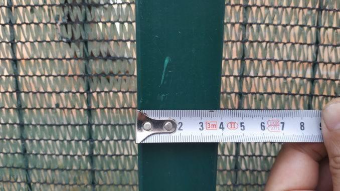 Замеры квадратного профиля трубы