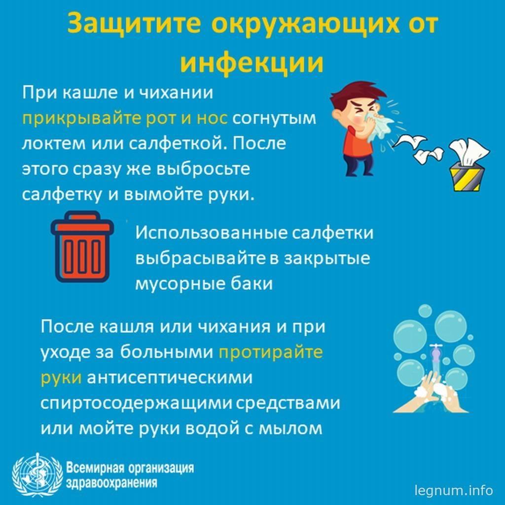 Защитите окружающих от инфекции