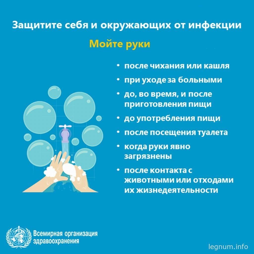 Защитите себя и окружающих от инфекции