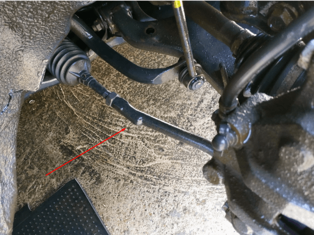 Передний левый рулевой наконечник